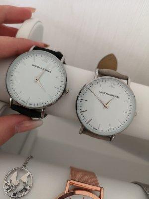 Larsson Jennings Uhren schwarz grau und Silber Zifferblatt