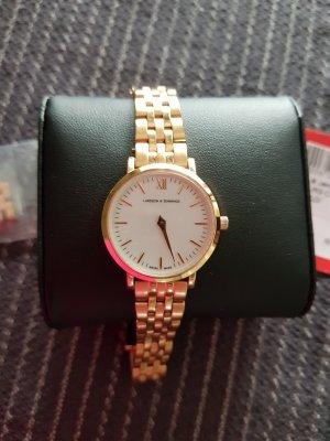 Larsson & Jennings Montre avec bracelet métallique or rose