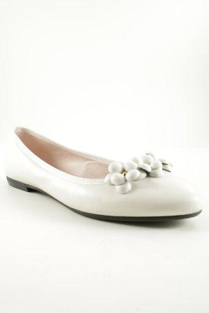 las lolas Ballerinas mit Spitze weiß-goldfarben Casual-Look