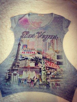 Las Vegas Shirt mit Strass, grau