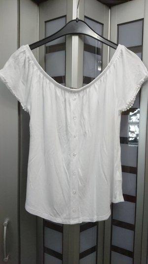Lascana Top épaules dénudées blanc viscose