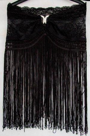 Lascana Negligé zwart Polyester