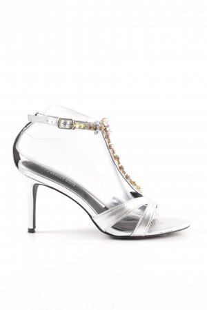 Lascana Strapped High-Heeled Sandals silver-colored elegant