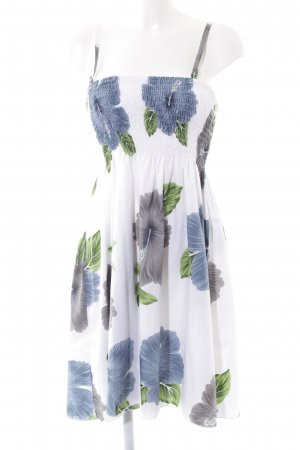 Lascana schulterfreies Kleid mehrfarbig klassischer Stil