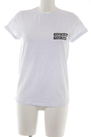Lascana T-Shirt weiß Schriftzug gedruckt Casual-Look