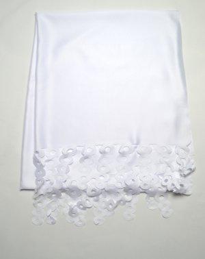 Laser Schal Hijab Weiß
