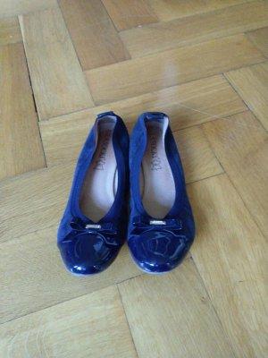 Lasocki Bailarinas de charol con tacón azul oscuro