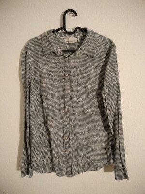 H&M L.O.G.G. Jeans blouse wit-leigrijs