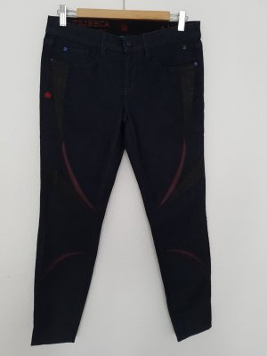 Tribeca New York Jeans a 7/8 blu scuro Cotone