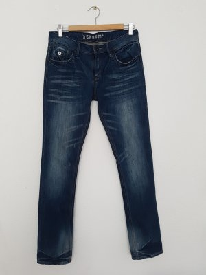 Denham High Waist Jeans blue cotton