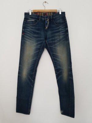 Tribeca New York Jeans boyfriend blu Cotone
