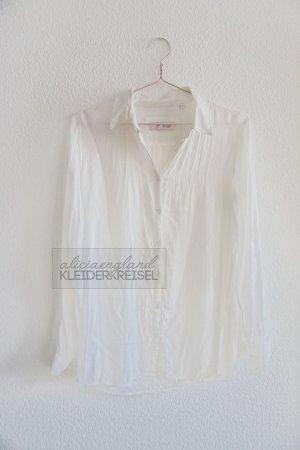 LAST CHANCE - Samstag Flohmarkt! Weiße Viskose Bluse Emily van den Bergh
