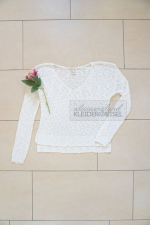 LAST CHANCE - Samstag Flohmarkt! Weißer Forever21 Grobstrick Sweater