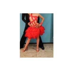Latein Kleid Rot