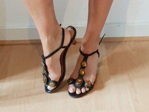 Latitude Femme riemchen Sandaletten Ibiza boho ethno kitten heels