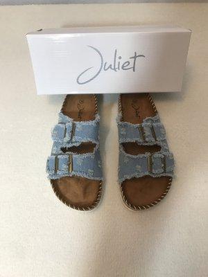 Sandalias para uso en exteriores azul celeste