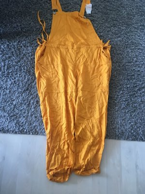 Mango Dungarees gold orange