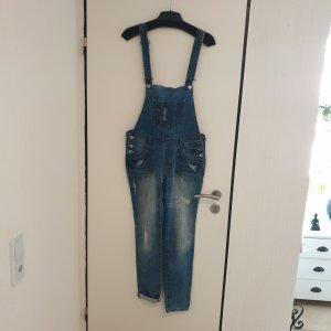 Review Jeans met bovenstuk blauw