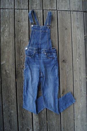 H&M Divided Bib Denim slate-gray-blue cotton