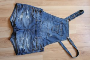 FB Sister Dungarees steel blue-slate-gray cotton