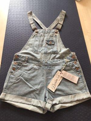 Denim Co. Jeans met bovenstuk azuur