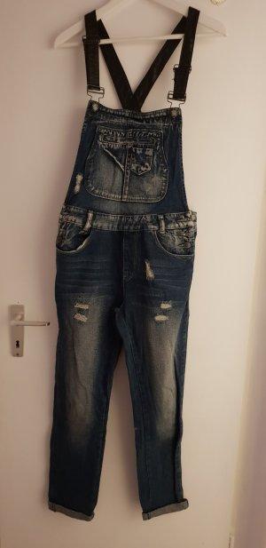 Jeans met bovenstuk leigrijs