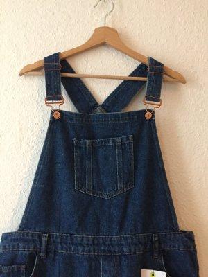 New Look Salopette en jeans bleu foncé-bleu pétrole