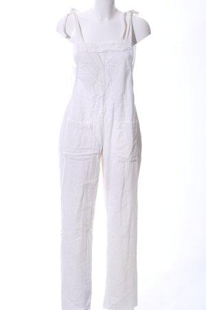 Salopette bianco stile casual