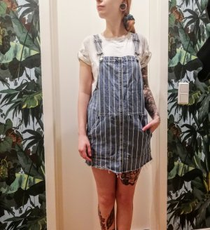 Pull & Bear Overall wit-azuur