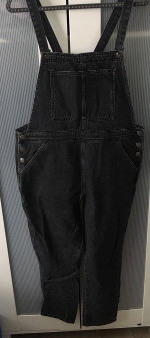 Topshop Salopette en jeans noir coton