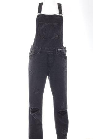 Jeans met bovenstuk zwart casual uitstraling