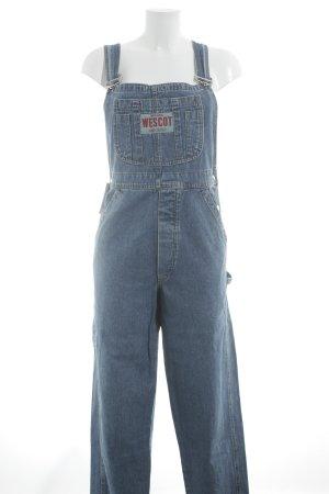Jeans met bovenstuk staalblauw casual uitstraling