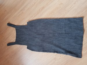 Topshop Pinafore Overall Skirt dark grey
