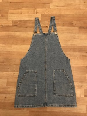 Topshop Pinafore Overall Skirt azure cotton