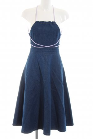 Pinafore Overall Skirt blue-mauve casual look