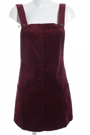 Pinafore Overall Skirt bordeaux vintage look