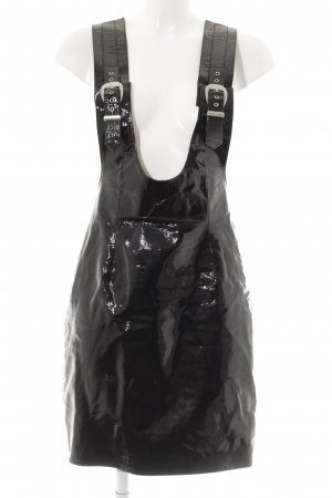 Pinafore Overall Skirt black gothic look