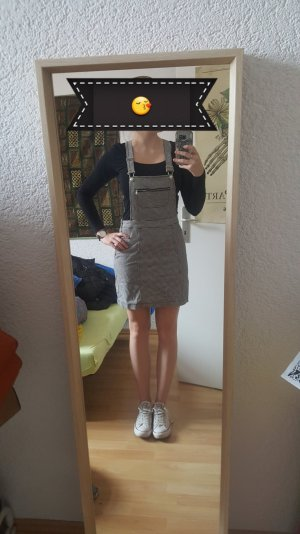 FB Sister Pinafore Overall Skirt black-white cotton