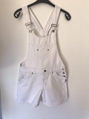 Latzshorts, Kurze Latzhose aus Jeans in weiß, 34/36