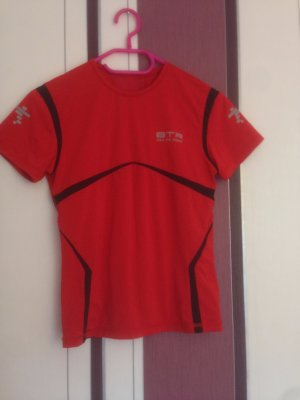 Lauf Oberteil t-Shirt rot