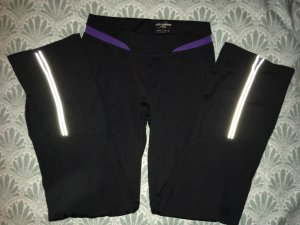 Pantalone da ginnastica nero-viola scuro