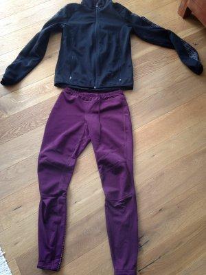 Pantalon de sport noir-violet