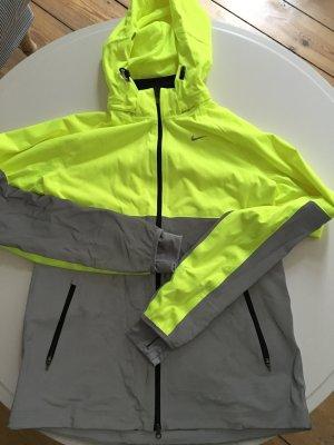 Laufjacke NIKE Dri-Fit Neon Gelb Grau Grösse M