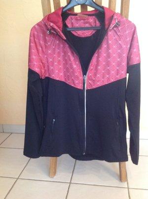 Tchibo / TCM Veste de sport noir-rouge framboise
