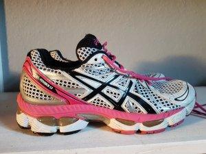Laufschuhe asics 38 in Pink weiß schwarz