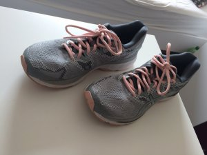 Asics Lace-Up Sneaker silver-colored-rose-gold-coloured textile fiber