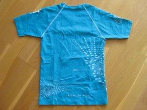 Camisa deportiva azul neón