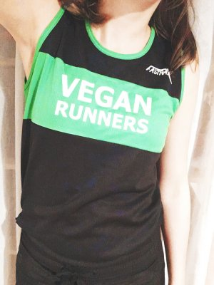 Laufshirt, vegan runners, fitness, active wear, Sport, Gr. M