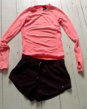 H&M Sport Shorts black-apricot