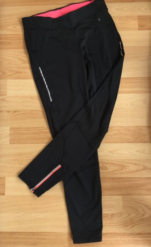 H&M Sport Trackies black-raspberry-red polyester